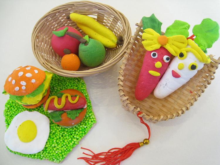 【西园29时尚讲堂】可爱面包土系列-水果篮及汉堡餐